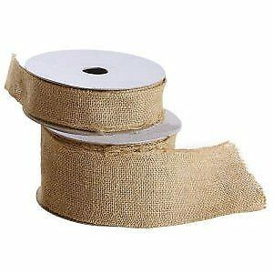 3 Inches Wide Burlap fabric craft Ribbon on Spool - 10