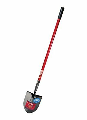 Bully Tools 92515 12-Gauge Round Point Shovel with Fibe