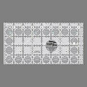 """Creative Grids 4.5"""" x 8.5"""" Rectangle Quilting Ruler Tem"""