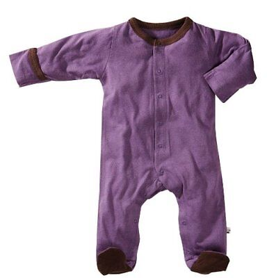 Babysoy Footie - Eggplant-3-6 Months