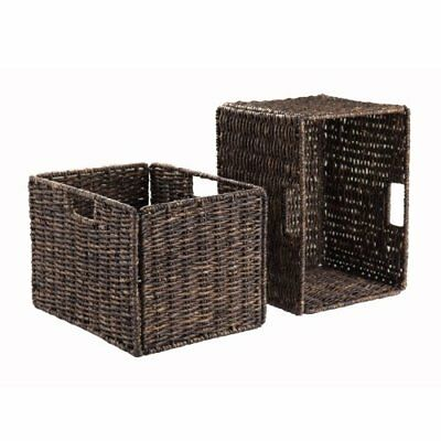 Winsome Wood Granville Foldable 2-Piece Tall Baskets Co