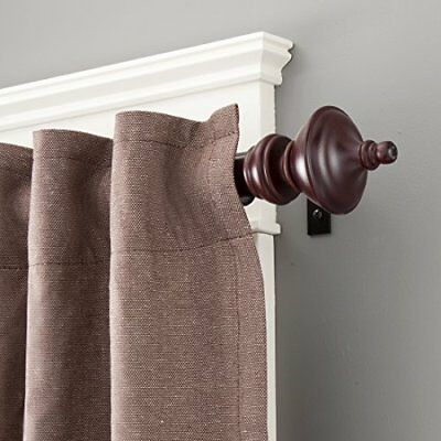 Kenney Rutherford Metal/Wood Window Curtain Rod, 28 to