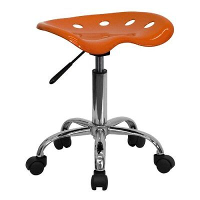 Flash Furniture Vibrant Orange Tractor Seat and Chrome