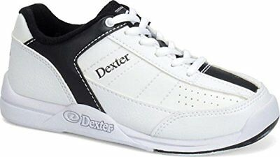 Dexter Kid's Ricky III Bowling Shoes, White/Black, 4