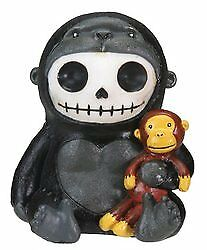 Kongo Gorilla Furry Bones Figurine Display