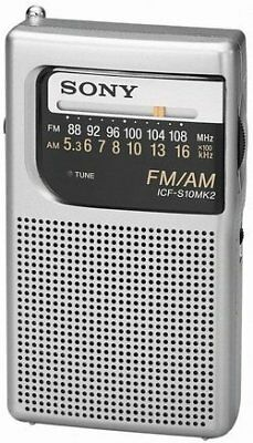 Sony Pocket Size Portable AM/FM Radio with Built-in Spe