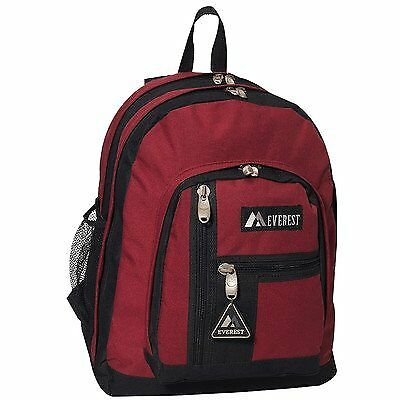Everest Double Compartment Backpack (Burgundy/Black)