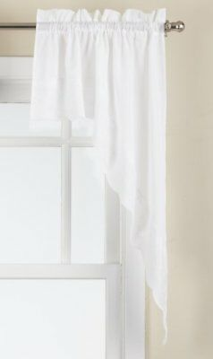 Lorraine Home Fashions Candlewick Tailored Swag, 60 by