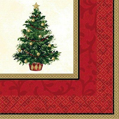 Amscan Classic Christmas Tree Dinner Napkins (16 Pieces