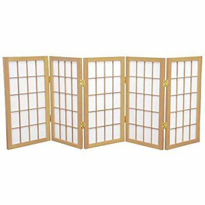 Oriental Furniture 2 ft. Tall Desktop Window Pane Shoji