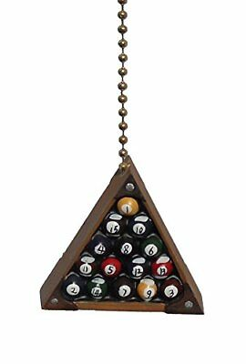 Eight Ball Billiards Pool Rack Room Ceiling Fan Light P