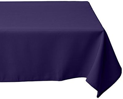 LinenTablecloth 54-Inch Square Polyester Tablecloth Pur