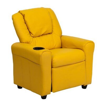 Flash Furniture Contemporary Yellow Vinyl Kids Recliner