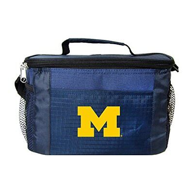 NCAA Michigan Wolverines Team Logo 6 Can Cooler Bag or