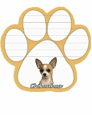 Chihuahua Notepad With Unique Die Cut Paw Shaped Sticky