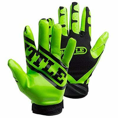 Battle Ultra-Stick Receiver Gloves, Adult Small - Neon
