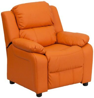Flash Furniture Deluxe Padded Contemporary Orange Vinyl