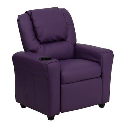 Flash Furniture Contemporary Purple Vinyl Kids Recliner