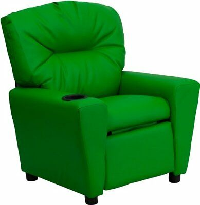 Flash Furniture Contemporary Green Vinyl Kids Recliner