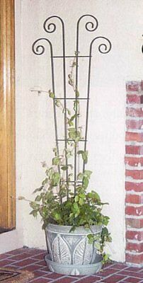 Panacea Products 48-Inch Wave Pot Trellis, Green