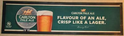 Carlton Pale Ale Flavour Of An Ale Rubber Back Bar Runner - Excellent