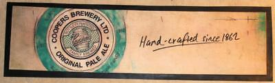 Coopers Pale Ale Hand Crafted Since 1862 Rubber Back Bar Runner - Excellent