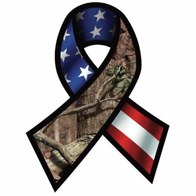 Mossy Oak Graphics 13071 Support Our Troops Ribbon Deca