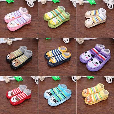 Cute Toddler Baby Kids Anti-slip Crawling Socks Shoes Slipper Boots 0-39 Months