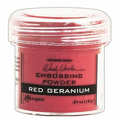 Ranger Wendy Vecchi Embossing Powders, Red Geranium, 1-