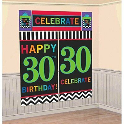 Must-Have Chevron and Stripes 30th Birthday Party Scene