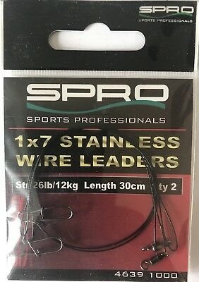 Avançons 7 Stainless Wire Leaders SPRO   30cm. 12kg