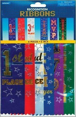 """AMSCAN Recognition Ribbon 6-Pack: 7-1/2"""" Assorted"""