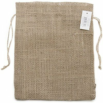 Kel-Toy Burlap Pouch, 8 by 10-Inch, Natural