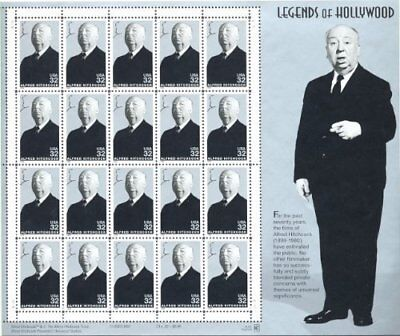 Alfred Hitchcock: Legends of Hollywood, Full Sheet of 2