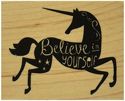 Inkadinkado Believe in Yourself Mounted Rubber Stamp, 2
