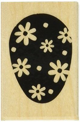 "Hero Arts Easter Egg Mounted Rubber Stamp, 1.25"" by 2"""