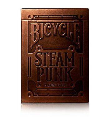 Bronze Steampunk Playing Cards Embossed box by theory11