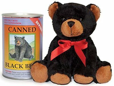 Canned Critters Stuffed Animal: Black Bear 6""