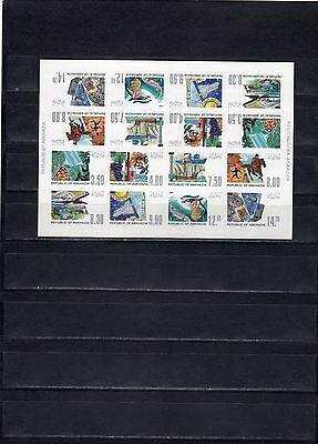 Abkhazia 1998 standard fauna space aviation speclist imperforated!!!