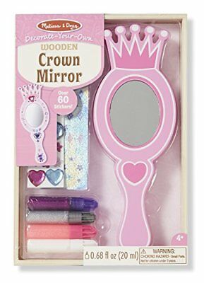 Melissa & Doug Decorate-Your-Own Wooden Crown Mirror Cr