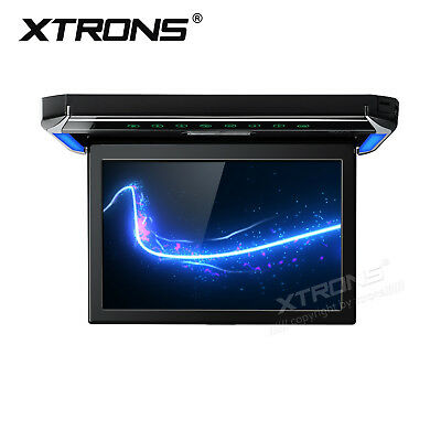 "Full HD 1080P 12.1"" Ultra-thin Car Roof Mounted Monitor Flip Down Ceiling W HDMI"