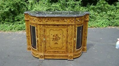 Luxury Rosewood Victorian style marquetry Credenza