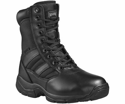 "MAGNUM Panther SIDE ZIP black 8"" combat cadet service non-safety boot size 3-15"