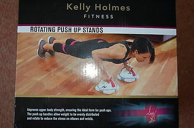New Kelly Holmes Fitness Rotating Push Up Ups Stand Workout Equipment Upper Body