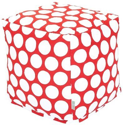 Majestic Home Goods Red Hot Large Polka Dot Cube, Small