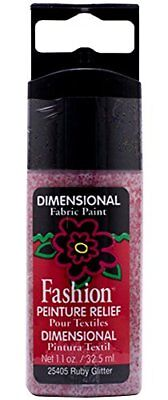 Plaid Fashion Dimensional Fabric Paint in Assorted Colo
