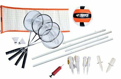 Triumph Sports Advanced Volleyball/Badminton Combo Set