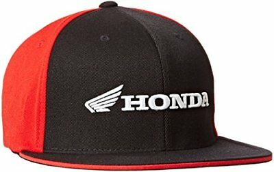 Factory Effex 'Honda' Horizontal Flex-Fit Hat (Black/Re
