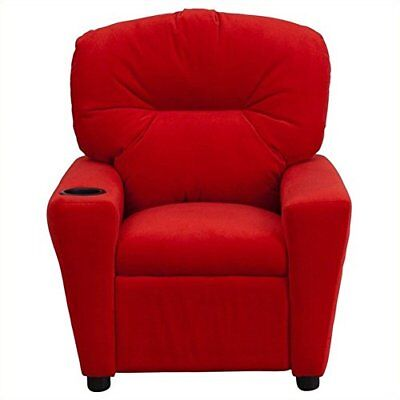 Flash Furniture Contemporary Red Microfiber Kids Reclin