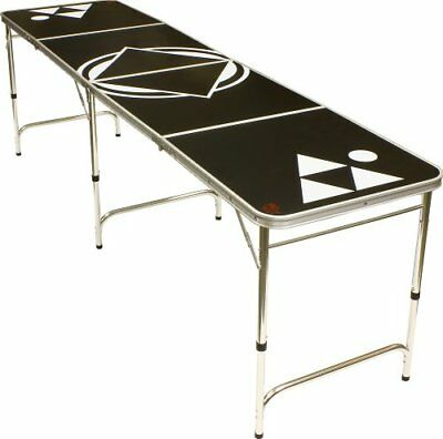 8' Beer Pong Table - Lightweight & Portable with Carryi